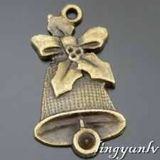 50586 Antique Bronze Alloy Bell With Knot Pendant Charms Crafts Findings 16pcs