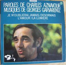 Charles AZNAVOUR - Double 45 t original DESORMAIS , Je n'oublierai jamais...