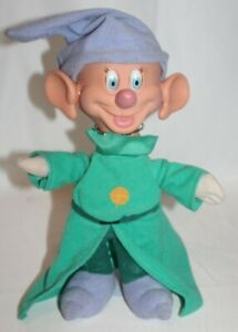 "Mattel Disney Snow White DOPEY Dwarf Disney Doll Eyes Ears Wiggle 14"" 1993"