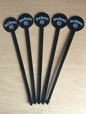 5 X FLAT STEMMED  JACK DANIELS  STIRRERS FROM THE UK MADE 2011
