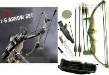 1:6 Scale Action Figure RAMBO STALLONE BOW ARROW KNIFE HOYT ARCHERY GREEN BOW_G