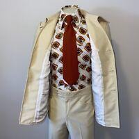 Vtg 60s 70s LEISURE SUIT Polyester Mens 40 Jacket Coat 35 32 Pants DISCO Phoenix