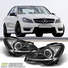 European 2012-2014 Mercedes Benz W204 C250 C300 C350 Halogen LED DRL Headlights