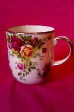 Royal Albert Old Country Roses Ruby Celebration Coffee Mug classic III Exc cond.