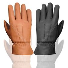 Brand New 100% Real Leather Cow Nappa Men's Fashion Dress Gloves Black Tan 087