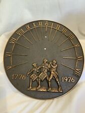 Vtg Heavy Brass Bicentennial Sun Dial Time Piece 1776-1976 Mint Garden Decor