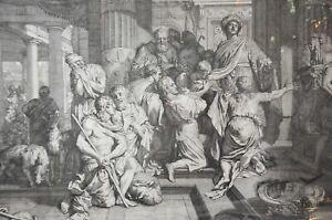 Nicolaum Visscher /  Gérard de Lairesse c 1675 engraving of Joseph