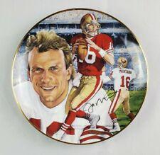 Vintage 1991 Joe Montana Comeback Kid # 16 San Francisco 49ers Plate