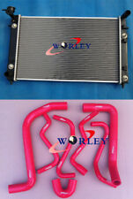RADIATOR HOLDEN COMMODORE VT (SERIES 1 AND 2) VX V6 AT 2 Oil Cooler & HOSE RED