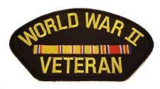 WWW II WORLD WAR TWO 2 VETERAN PATCH W/ ASIATIC PACIFIC SERVICE RIBBONS