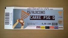 TICKET FOOTBALL PSG-VALENCIENNES 2008-QUART DE FINALE COUPE DE LA LIGUE