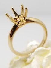 Suitable for 2 Carat Head Round Diamond 18k Rose Gold Semi Mount Wedding Ring