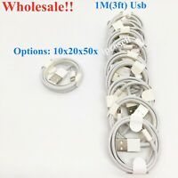 10x20x50x OEM Lightning USB Charging Cable For iPhone 5s/6/6+6s/6s+/7/8 1m(3ft)