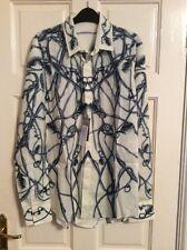 "BNWT Alexander McQueen Cotton Printed ""Vine"" Shirt Dress Size UK Med -48 Italian"