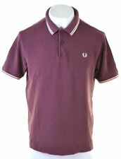 FRED PERRY Mens Polo Shirt XL Burgundy Cotton  CX16