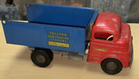 Structo Toyland No. 844  Dump Truck 1950's Pressed Steel Wind up Motor Works!