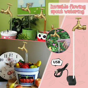 Creative Invisible Flowing Spout Watering Can Fountain-decoration USB Style