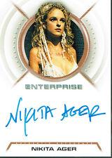 STAR TREK ENTERPRISE SEASON 3 AUTOGRAPH CARD A29 NIKITA AGER AS RAJIN