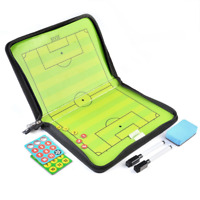AGPTEK Soccer Tactic Board Set Folding Magnetic Football Coaching Board Kit