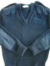 USN US NAVY CPO OFFICERS WOOLLY PULLY HEAVY BLACK SERVICE DRESS SWEATER SIZE XL