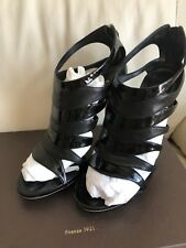 72579d3b9a2 GUCCI SORYA AMAZING PATENT LEATHER ZIPPER SEXY ANKLE BOOTIES EU 38