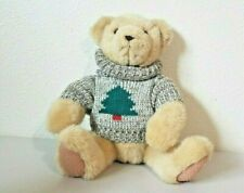 Hallmark Cards TREVOR TEDDY BEAR with Christmas Tree Sweater Stuffed Plush 12""