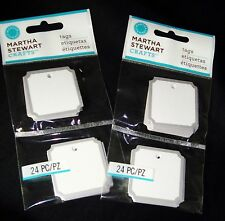 Martha Stewart Crafts Notched Square Tags 2 pks total 48 pcs Die-Cut Silver Foil