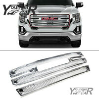 For 2019-2021 GMC Sierra 1500 SLT AT4 CHROME Snap On Grille Overlay Grill Covers