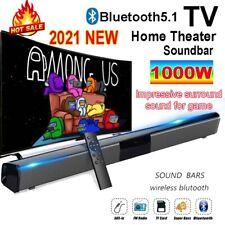 TV Home Theater Soundbar Wireless Sound Bar Speaker System w/Built-in Subwoofer