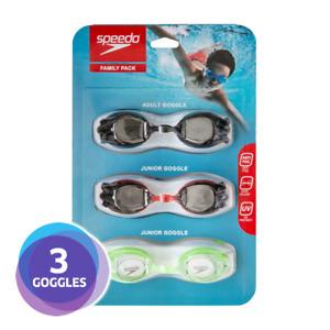 [3 PACK] Speedo 2 Junior Kids & 1 Adult Swimming Goggles UV Protection Anti Fog