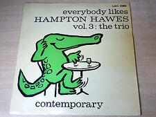 EX-/EX- !! Hampton Hawes/Everybody Loves Volume 3 : Trio/1956 Contemporary LP