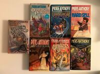 Piers Anthony 7 Book Lot Set Collection Xanth Apprentice Adept Incarnations