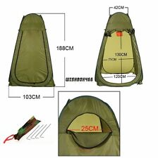Outdoor Bath Privacy Shelter Camp Beach Shower Toilet Pop UP Tent Portable Green
