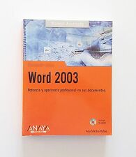 Libro / Manual de Informática Microsoft Office Word 2003 (Español) (Anaya)