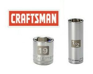 """New Craftsman Easy to Read Sockets 1/2 & 3/8"""" Drive Shallow & Deep Metric/SAE In"""
