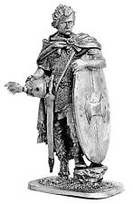 Tin toy soldier Noble Gallic Warrior. Metall sculpture 54 mm