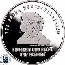 Deutschland 20 Euro 2016 Deutschlandlied Hoffmann Fallersleben Spiegelglanz PP