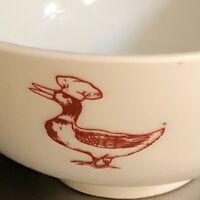 Beijing Duck Rice Bowl Red White Great China Asian Restaurant Dinnerware