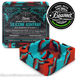 Beamer Silicone Ashtray Dishwasher Safe Glass Safe Holds Rolling Papers CigsVape