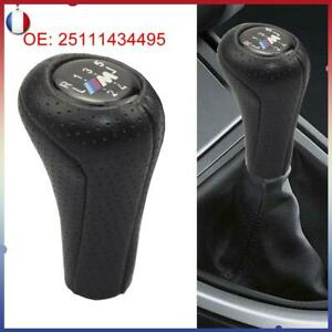 pour BMW M E30 E36 E38 E39 E46 CUIR POMMEAU LEVIER DE VITESSE 5 VITESSES MANUEL