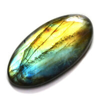 Cts 54.80 Natural Spectrolite Full fire Labradorite Cabochon Oval Loose Gemstone