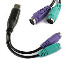 NEU PNP USB für PS/2 Kabel Adapter konvertiere für Tastatur Maus KVM Scanner
