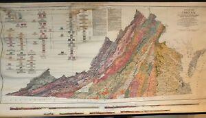 Vintage Pull Down Map CLOTH 1 Layer Virginia Vintage, Salvage, Old
