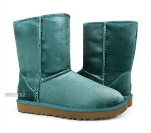 UGG Classic Short II Velvet Atlantic Fur Boots Womens Size 8 *NIB*