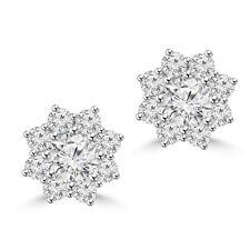 2.35 ct Round Cut Diamond Stud Earrings in Screw Back