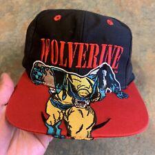 Wolverine X-Men Vintage 90's Marvel Comics Block HewrAdjustable Snapback Cap Hat