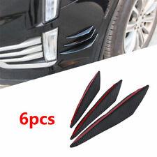 6Pcs Carbon Fiber Look Car Front Bumper Fins Spoiler Wing Lip Splitter Universal