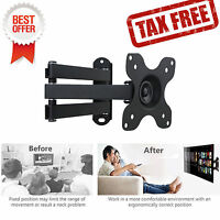 Full Motion TV wall mount Articulating Bracket 15 20 22 24 26 27 30 Inch LCD LED