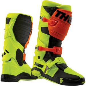 Thor Radial Motocross Off road Boot Flo Orange / Flo Yellow