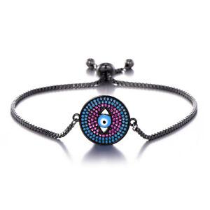 Charming Fiji Slider Bracelets Adjustable Top Quality Charms Evil Eye Moon Owl